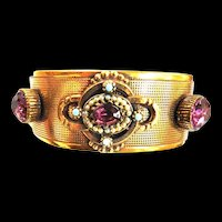 Jaw Dropping Victorian Revival 1940s Amethyst Bracelet Must C
