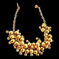 1970s jingle chunky  Ball necklace