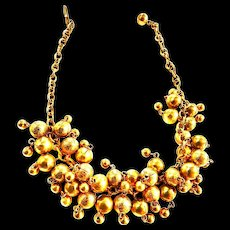 1970s jingle chunky  Ball necklace