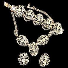 High End Designer Chunky Must See Necklace Bracelet Earrings