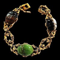 Magical Victorian Scarab Ornate Bracelet