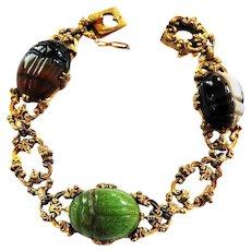 Magical Victorian Scarab Ornate Bracelet