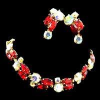 Heart Throbbing Schiaparelli Bracelet and Earrings