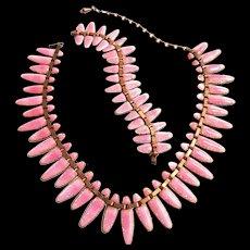Mid Century Modern Matisse Rare Rose Pink Parure