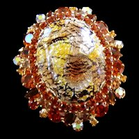 Juliana Egg Brooch Madiera Topaz