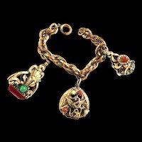 fabulous 1940s Griffin FOB bracelet