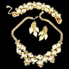Return to Elegance Juliana Jonquil Art Glass Necklace Bracelet Earrings