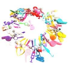Fun Fun Fun 1980s Bell Charm Necklace Loaded