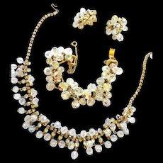 Juliana 5 Link Vintage Necklace Bracelet Earring Parure