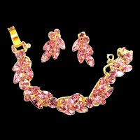 Pretty in Pink Juliana 5 Link Bracelet and Earrings