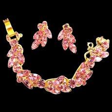Pretty in Pink Juliana 5 Link Bracelet and Earrings