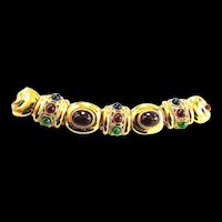 1960s Mogul Cabochon Massive Vintage Bracelet