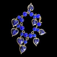 Gorgeous 1950s Warner Heart Charm Bracelet