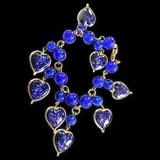 Gorgeous 1950s Warner Heart Charm Bracelet