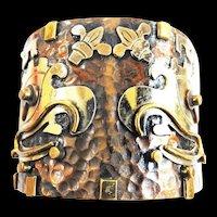 Mexican Ozomati Mixed Metals Cuff Bracelet