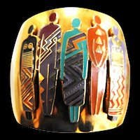Laurel Burch Vintage Tribal Cuff Bracelet