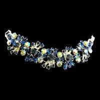 Juliana Montana Blue 5 Link Vintage Bracelet