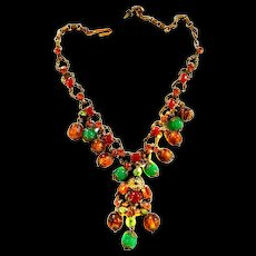 Early 1900s Austro Hungarian Drippy Necklace Must C