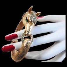 Vintage Equestrian Castlecliff Clamper Bracelet