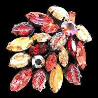 Regency Poured Art Glass 1950s Brooch
