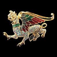 Fabulous Trifari Winged Dragon Must C