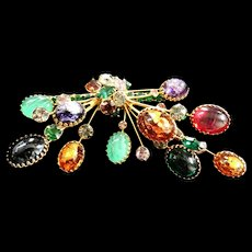 Jaw Dropping Designer Massive 50s Brooch Must C