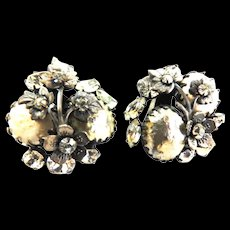Exquisite DeMario Faux Pearl Earrings 40s