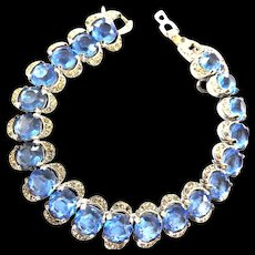 Fabulous Designer Sapphire Blue Vintage Bracelet