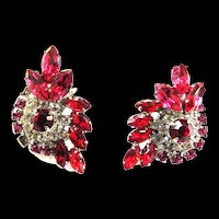 Juliana Fuchsia Clip Earrings
