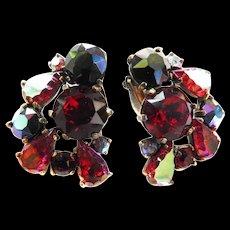 Exquisite Vintage Schiaparelli Clip Earrings