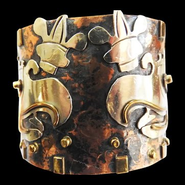 Mixed Metals Including Silver Ozomati Mexican Vintage Bracelet