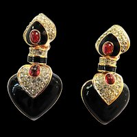 Stunning Ciner Earrings JEWELS OF INDIA