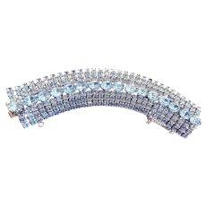 Wide Baby Blue Large Wide Weiss Bracelet