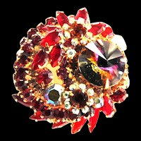 Juliana BIg Dazzling Red Brooch