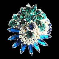 Vintage Juliana Circular Brooch
