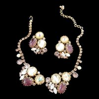 Fabulous Designer Big Bold Vintage 1950s Necklace and Earrings