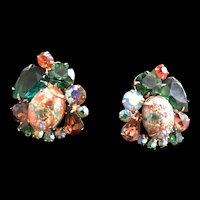 Vintage JUliana Easter Egg Clip Earrings