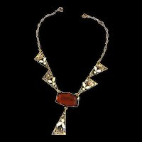 Gorgeous Early 1900s Neiger Topaz Necklace