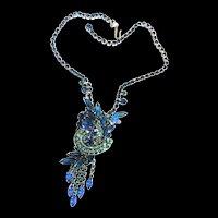 Juliana Montane and Capri Blue Water Fall Necklace