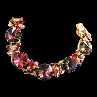Juliana Ruby Red Rivoil Chunky 5 Link Bracelet
