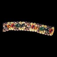 Fabulous Alice Caviness Multi Stone Designer Vintage Bracelet