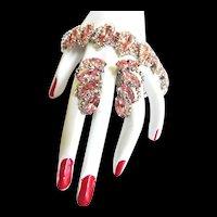 Weiss 1950s Pretty in Pink Bracelet and Earrings