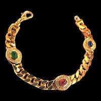 Fabulous Curb Chain Christian Dior Vintage Bracelet