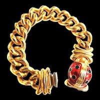 Vintage Joan Rivers Chunky Chain Bracelet