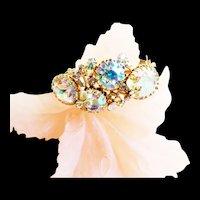 Fabulous Alice Caviness Clamper Enormous Stones Vintage Bracelet