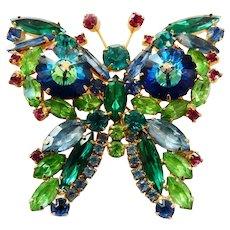 Juliana Huge Butterfly Vintage Brooch