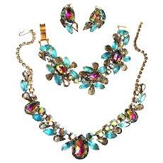 Fabulous watermelon Vintage Designer Necklace Bracelet Earrings