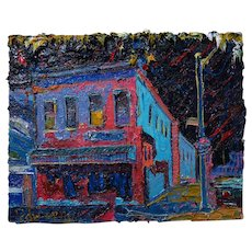 Impressionist Art Cityscape House, original oil painting of 16 by 20 by 3/4 in.