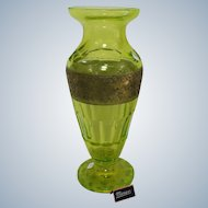 Large Moser Karlsbad Art Deco Glass Vase