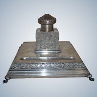 Russian Silver Inkwell :Moscow 19th century from period of Czarist Russia